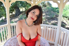 Mitzi Big Boobs and Cleavage in Red and Black Dresses for FTV Milfs 005