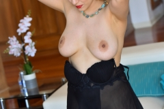 Mitzi Big Boobs Black Dress and High Heels for FTV Milfs 001
