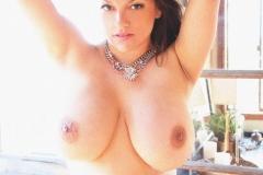 Monica Mendez Huge Boobs in White Bra 017