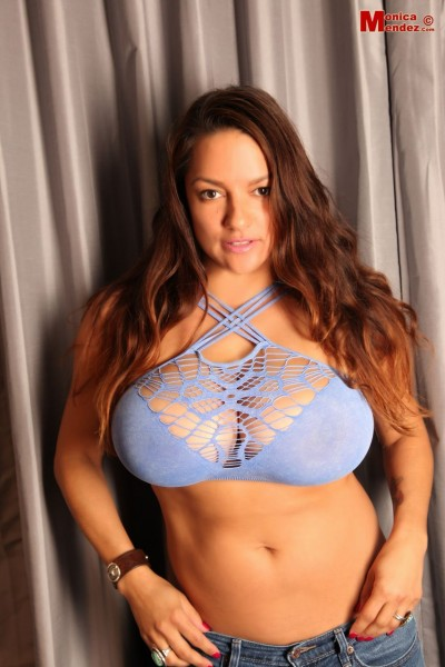 Monica-Mendez-Huge-Tits-in-Strappy-Blue-Sheer-Bra-001