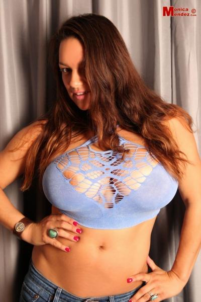 Monica-Mendez-Huge-Tits-in-Strappy-Blue-Sheer-Bra-006