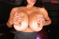 Monica Mendez Tits look good in silver tight body 09