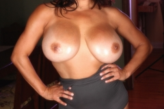 Monica Mendez Tits look good in silver tight body 15