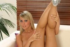 Monika Drabinova Huge Boobs White Lacy Bra and Panties 012