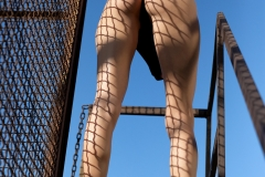 Nancy Big Tits Black Swimsuit in Cages for Photodromm 002
