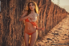 Niemira Big Boobs in Sexy Orange Bikini for Photodromm 002