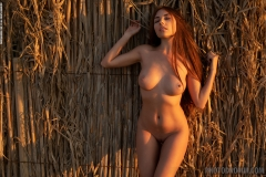 Niemira Big Boobs in Sexy Orange Bikini for Photodromm 008