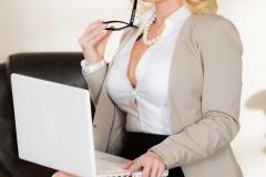 Nikki Delano Big Tits Blonde in Black Bra and Panties 008