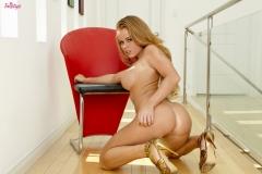 Nikki Delano Big Tits Tight Red Minidress 009