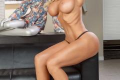 Nocolette Shea Big tits Blonde Blue Miniskirt 007