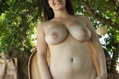 Noelle Easton Big Tits White Strappy Top 08
