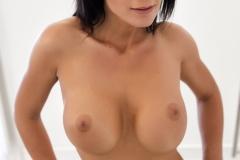 Karola Big NAked Tits on Glass Stairs for Photodromm 010