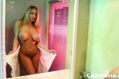 Olivia Austin Big Boobs Gets Naked doing her Makeup 011