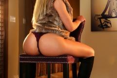 Olivia Austin Big Boobs Green Body and Black Thigh High Boots 005
