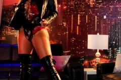 Olivia Austin Big Boobs Latex Corset and Thigh Boots 01