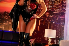 Olivia Austin Big Boobs Latex Corset and Thigh Boots 05