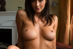 Orsi Kocsis Big Boobs Naked on a Sofa by the Window 007