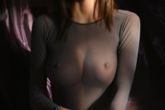 Orsolya Kocsis Big Tits Grey Seethrough Shirt 01