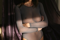 Orsolya Kocsis Big Tits Grey Seethrough Shirt 04