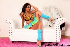 Priya Rai Big Tits and Colourful Bra 001