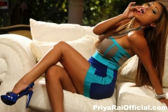 Priya Rai Big Tits Sexy Blue Dress 007