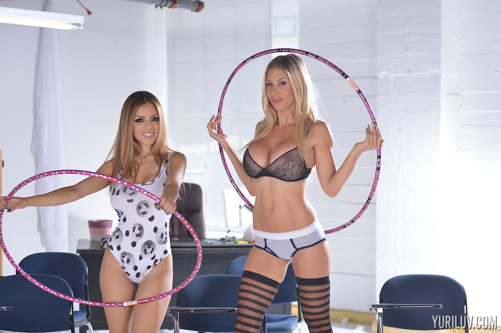 Puma Swede and Yuri Avluv Big Boobs Hula Hoop Girls 001