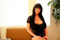 Rachel Aldana Huge Boobs Black Bra 002