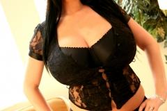 Rachel Aldana Huge Boobs Black Bra 004