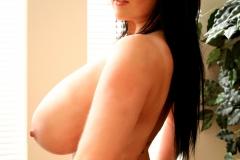 Rachel Aldana Huge Boobs Black Bra 010