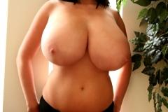 Rachel Aldana Huge Boobs Black Bra 011