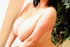Rachel Aldana Huge Boobs Black Bra 020