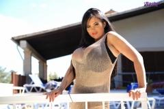 Rachel-Aldana-Huge-Tits-in-Gold-Mesh-Dress-005