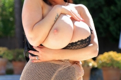 Rachel-Aldana-Huge-Tits-in-Gold-Mesh-Dress-011