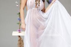 Rachelle Wilde Big Boob White Dress 01