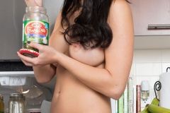 Rachelle Wilde Big Boobs Naked in the Kitchen 008