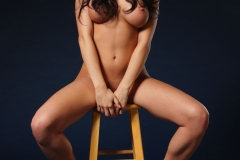 Rachelle Wilde Big Boobs Naked on a Stool 001