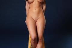 Rachelle Wilde Big Boobs Naked on a Stool 003