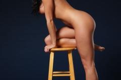 Rachelle Wilde Big Boobs Naked on a Stool 005