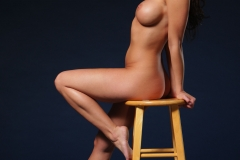 Rachelle Wilde Big Boobs Naked on a Stool 007