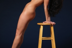 Rachelle Wilde Big Boobs Naked on a Stool 008