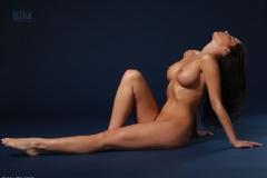 Rachelle Wilde Big Boobs Naked on a Stool 009