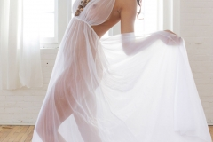 Rachelle Wilde Big Tit White Seethrough Dress 01