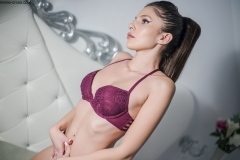 Renne Cross Nice Boobs in Purple Lingerie 008