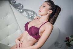 Renne Cross Nice Boobs in Purple Lingerie 008