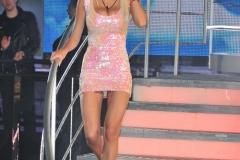 Rhian Sugden Big Boob Tight Pink Minidress 01