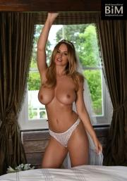 Rhian Sugden Big Boob White Lingerie Bride 004