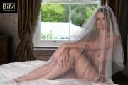 Rhian Sugden Big Boob White Lingerie Bride 006