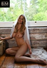 Rhian Sugden Big Boob White Lingerie Bride 014