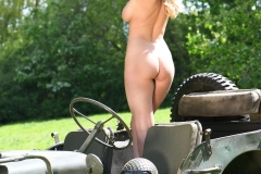 Rhian Sugden Big Boobs Blonde Army Major Gets Naked 009