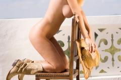 Rhian Sugden Big Boobs Cowboy Hat and Denim Shorts 009